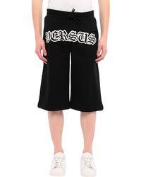 Versus Shorts nero con logo