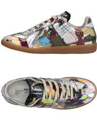 Maison Margiela Low Sneakers & Tennisschuhe - Mettallic