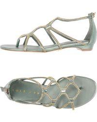 Lola Cruz - Toe Strap Sandal - Lyst