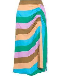 Tibi 3/4 Length Skirt - Blue