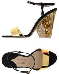 Edie Parker Sandals - Metallic