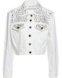 Alice + Olivia Manteau en jean - Blanc