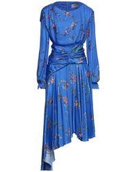 Preen By Thornton Bregazzi Midi Dress - Blue