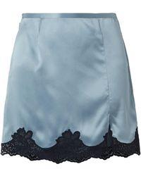 Fleur du Mal Mini Skirt - Blue