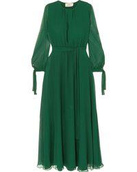 AROSSGIRL x SOLER Long Dress - Green