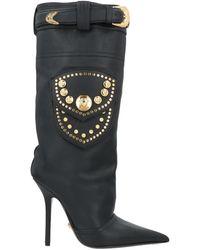 Versace Knee Boots - Black