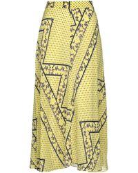 Ganni Long Skirt - Yellow