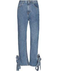 WEILI ZHENG Denim Trousers - Blue