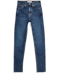 TOPSHOP Denim Trousers - Blue