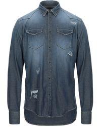 Aglini Camisa vaquera - Azul