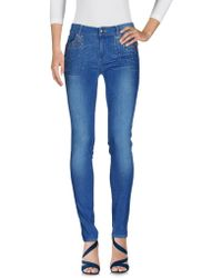 Scee By Twin-set - Denim Trousers - Lyst