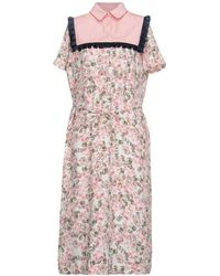 Mother Of Pearl 3/4 Length Dress - Pink