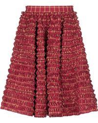 DSquared² Knee Length Skirt - Red