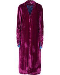 Free People Overcoat - Purple