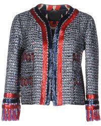 Marc Jacobs Sequin Tweed Jacket - Blue