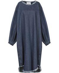 AVN Knee-length Dress - Blue