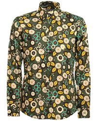 Grey Daniele Alessandrini Shirt - Green