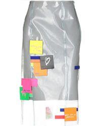 Fyodor Golan 3/4 Length Skirt - Gray
