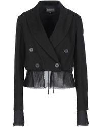 Ann Demeulemeester Denim Outerwear - Black
