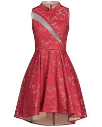Forever Unique Short Dress - Red