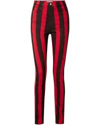 Tre by Natalie Ratabesi Denim Trousers - Red