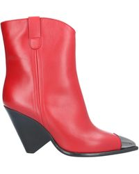 The Seller Ankle Boots - Red