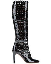 Alaïa Knee Boots - Black