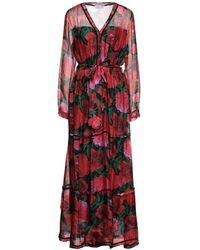 Odi Et Amo Long Dress - Red