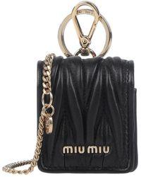 Miu Miu Key Ring - Black