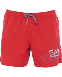 EA7 Short de bain - Rouge