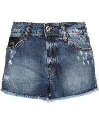 John Richmond Denim Shorts - Blue