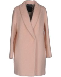 Blue Les Copains Coat - Pink