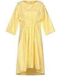 HIDDEN FOREST MARKET Midi Dress - Yellow