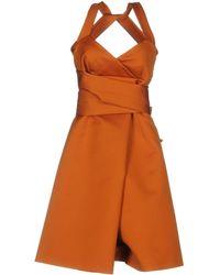 Paule Ka Vestito al ginocchio - Arancione