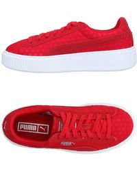 06887ef632088 Lyst - PUMA Low-tops   Sneakers in Red