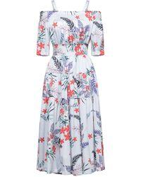 No Secrets Midi Dress - Blue