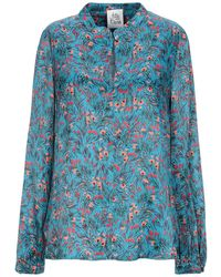 Attic And Barn Blouse - Blue
