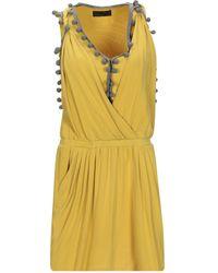 Jo No Fui Short Dress - Yellow