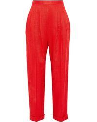 Delpozo Trouser - Red