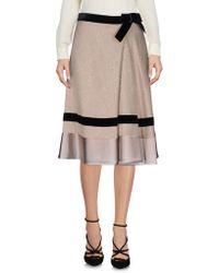 Mariella Burani Knee Length Skirt - Multicolor
