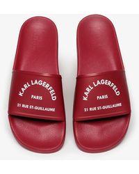 Karl Lagerfeld Sandals - Red