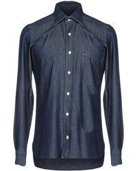 Rubinacci Denim Shirt - Blue