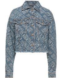 Versace Jeans Couture Denim Outerwear - Blue
