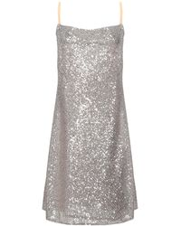 ..,merci Short Dress - Metallic