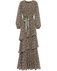 Mikael Aghal Langes Kleid - Mehrfarbig