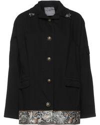Boutique De La Femme Overcoat - Black