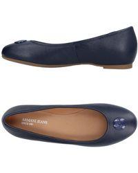 Armani Jeans Bailarinas - Azul