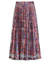 Saloni 3/4 Length Skirt - Red