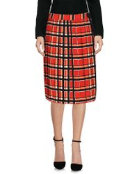 Marc By Marc Jacobs Knee Length Skirt - Red