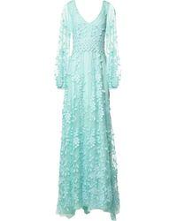 Costarellos Robe longue - Bleu